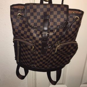 Large Checkered Backpack- Great for school